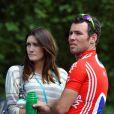 Mark Cavendish et sa femme Peta Todd à Londres le 14 août 2011.