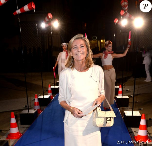 Claire Chazal à la soirée des 80 ans d'Air France, à Paris, le 7 octobre 2013.