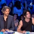 Soan (Nouvelle Star) et Jean-Claude Dassier ont eu un échange houleux sur le plateau d'On n'est pas couché. Samedi 12 octobre 2013.