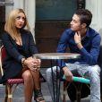 Exclusif - Tarek Benattia, le frère de Nabilla, en tournage sur l'émission de télé réalité de sa soeur à Paris le 3 octobre 2013.