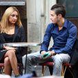 Exclusif - Tarek Benattia, le frère de Nabilla qui fait le buzz sur twitter, en tournage sur l'émission de télé réalité de sa soeur à Paris le 3 octobre.