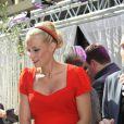 """Exclusif - Elodie Gossuin, enceinte, à la galerie """"Auchan Englos"""" dans le Nord pour une séance de relooking gratuit, le 29 mai 2013."""
