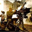 Tournage du film Transformers : L'Age de l'extinction, réalisé par Michael Bay