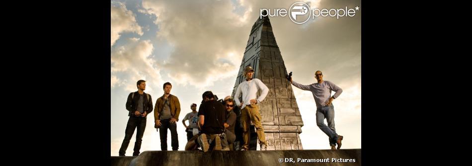 Sur le tournage du film Transformers : L'Age de l'extinction, réalisé par Michael Bay