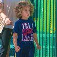 Exclusif -  Le petit  Hank Baskett IV, bientôt 4 ans, à Los Angeles, le 23 avril 2013.