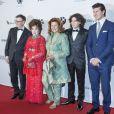 Gina Lollobrigida, Andrea Piazzola, Andrey Friedman lors de la soirée de gala de la fondation Albert II de Monaco organisée à Berne en Suisse le 17 octobre 2013