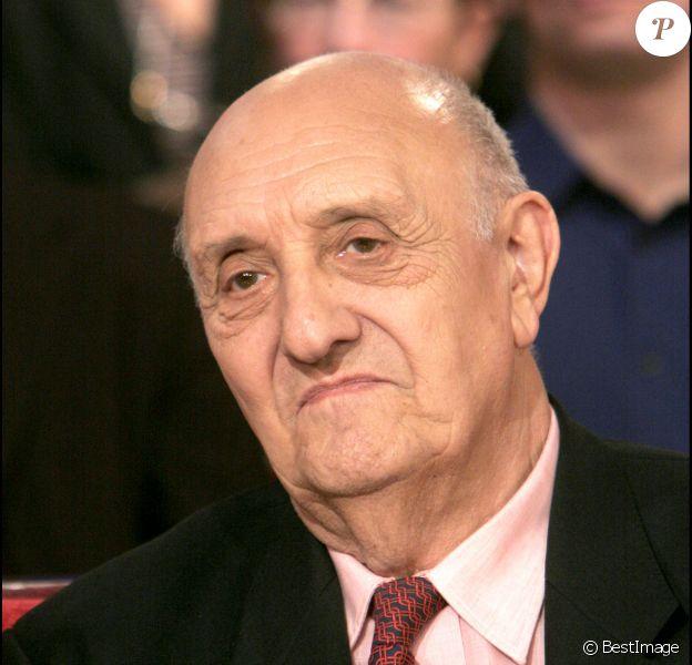 """Pierre Tchernia - Enregistrement de l'émission """"Vivement Dimanche"""" en 2005."""