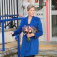 La comtesse Sophie de Wessex en mission à l'Université de Bristol le 23 octobre 2013 en tant que marraine de The Healing Foundation, venue soutenir le projet Cleft Gene Bank de constitution d'une base de données ADN pour aider la recherche sur les fentes labiales et palatines.