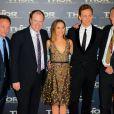 Alan Taylor (réalisateur), et Kevin Feige (président de Marvel et producteur), répondent à nos questions sur le tapis rouge de Thor : Le Monde des Ténèbres, à Paris, le 23 octobre 2013.
