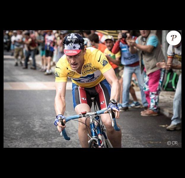 """Première photo de Ben Foster sur le tournage de """"Cycling project"""" le biopic sur Lance Armstrong - octobre 2013."""