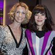 Alexandra Lamy et son amie Mélanie Doutey à Paris le 21 mars 2013