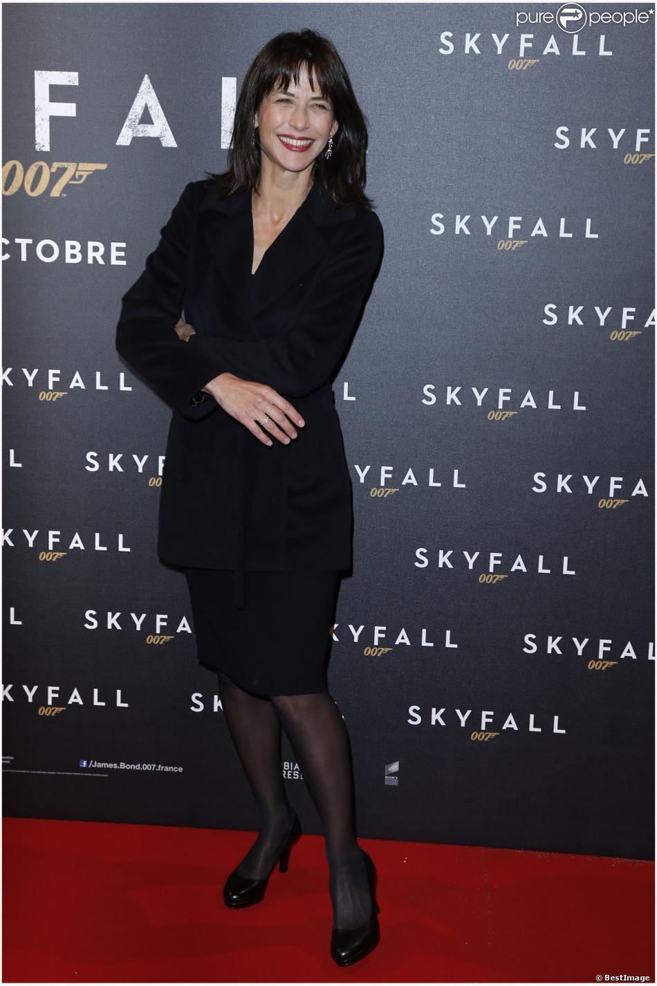 Sophie Marceau lors de l'avant-première de Skyfall à Paris le 24 octobre 2012