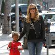 Heidi Klum et sa petite Lou se baladent à Los Angeles. Octobre 2013