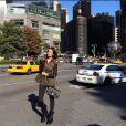 Jade Foret à New York le 8 octobre 2013