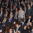 L'infante Elena d'Espagne au Théâtre Alcazar Cofidis de Madrid lors de la cérémonie de remise des insignes de l'ordre royal du Mérite sportif le 29 octobre 2013. Un gala marqué par la mémoire de la pilote F1 Maria de Villota, décédée tragiquement trois semaines plus tôt à 33 ans.