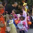Barack Obama et Michelle Obama fêtent Halloween à la Maison-Blanche, le 31 octobre 2013.