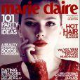 Scarlett Johansson en couverture du magazine Marie Claire de décembre 2013