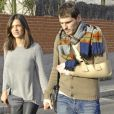 Iker Casillas et Sara Carbonero à Madrid le 27 janvier 2013