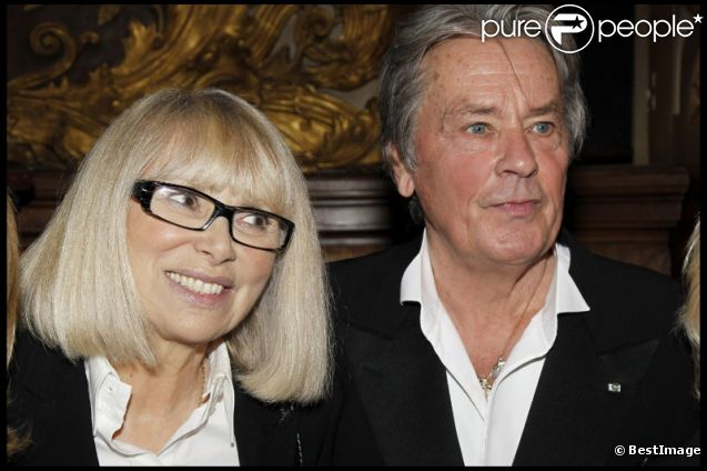 Alain Delon couple