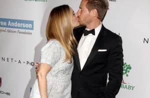 Drew Barrymore : Enceinte, sublime et couvrant son mari de tendres baisers