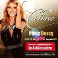 Céline Dion sera en concert à Bercy dès le 25 novembre 2013.