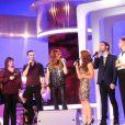 Céline Dion sur le plateau de l'émission Les chansons d'abord, le 12 novembre 2013.