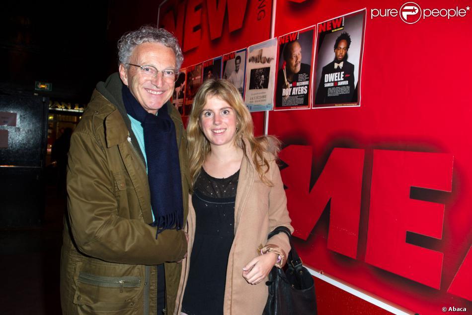 Nelson Monfort et sa fille Isaure - Yves Lecoq chante Trenet au New Morning à Paris le 13 novembre 2013.