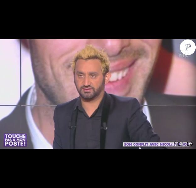 Cyril Hanouna, devenu blond, dans l'émission Touche pas à mon poste, le mercredi 20 novembre 2013.
