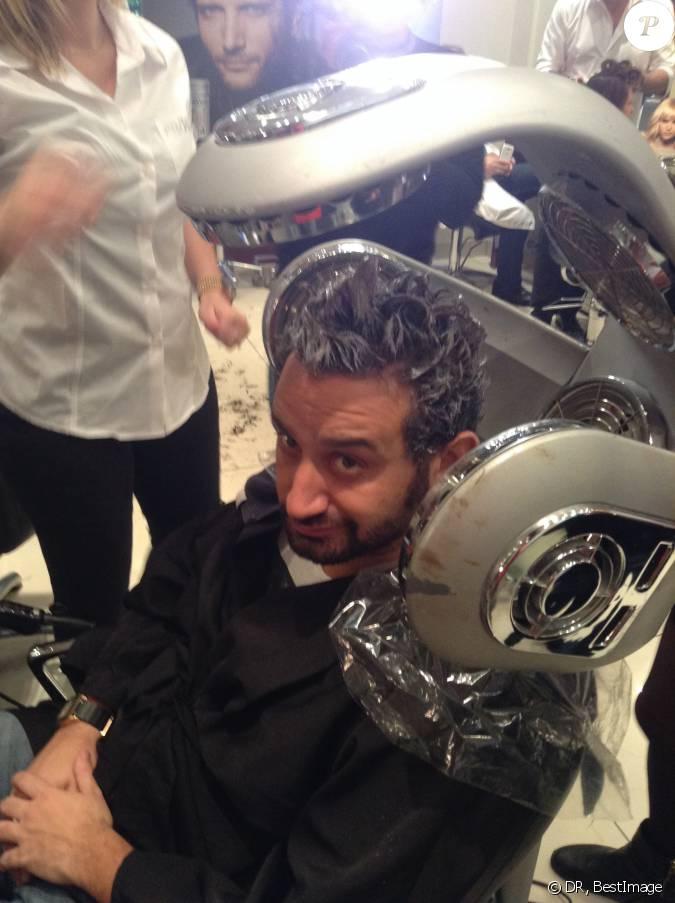 Cyril hanouna au salon de coiffure de franck provost afin de proc der sa d coloration apr s - Salon de coiffure paris 20 ...