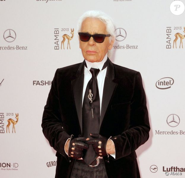 Karl Lagerfeld lors des Bambi Awards 2013 à Berlin, le 14 novembre 2013.