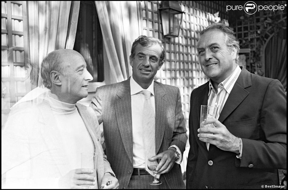 Michel Audiard, Jean-Paul Belmondo et Georges Lautner à Cannes le 17 septembre 1979