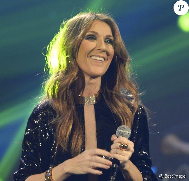 Exclu - Céline Dion lors de son premier concert au POPB de Paris. Le 25 novembre 2013.