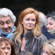 Exclusif - Céline Boisson, dernière compagne de Jacques Martin, lors des obsèques du grand ami de Jacques Martin, Paul Ceuzin, en l'église Saint-Roch à Paris, le 19 novembre 2013