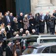 Exclusif – Les obsèques du grand ami de Jacques Martin, Paul Ceuzin, en l'église Saint-Roch à Paris, le 19 novembre 2013