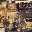 Saul Leiter s'affiche en couleur avec Postmen, en 1952.