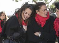 Pauline Ducruet tout contre sa mère Stéphanie de Monaco pour un moment d'émotion