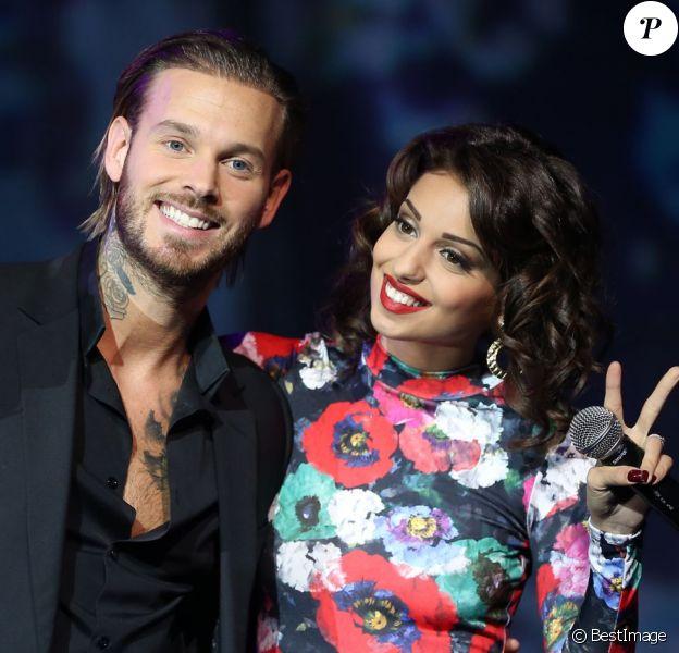 """Exclusif - M. Pokora et la chanteuse Tal lors de l'enregistrement de l'émission """"La nouvelle génération chante Goldman"""" au Palais des Sports, qui sera diffusée sur TMC le 4 decembre 2013."""