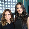 """Exclusif - Leslie et Pauline lors de l'enregistrement de l'émission """"La nouvelle génération chante Goldman"""" au Palais des Sports, qui sera diffusée sur TMC le 4 decembre 2013."""