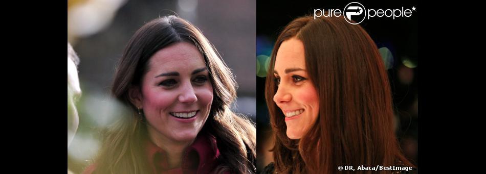 Kate Middleton début novembre / fin novembre. Entre les deux, un passage au salon du coiffeur Rossano Ferretti pour faire disparaître quelques cheveux blancs...
