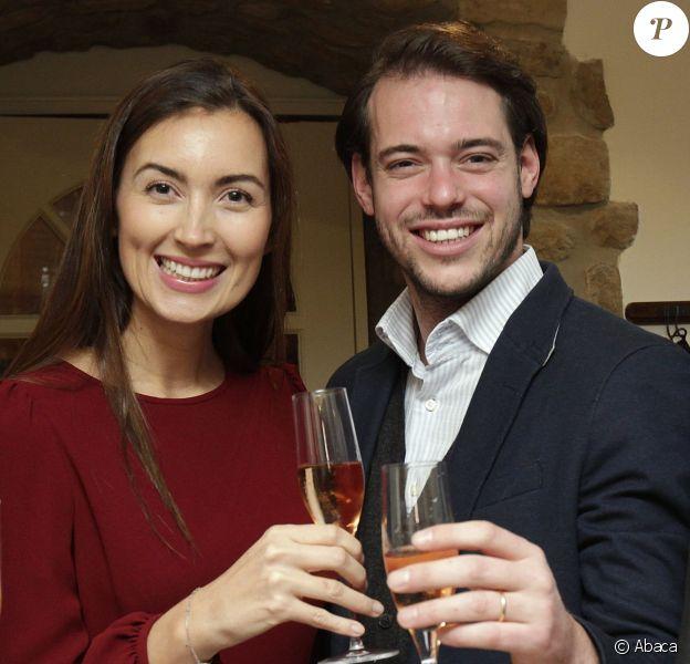 Le prince Felix et la princesse Claire de Luxembourg présentaient pour la première fois les vins de leur domaine provençal, le Château les Crostes, le 27 novembre 2013 au restaurant luxembourgeois La Table des Guilloux.