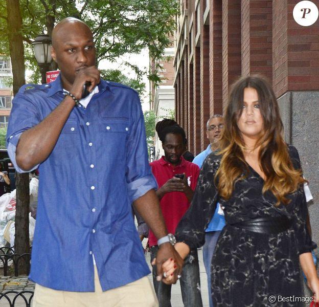 Lamar Odom et Khloé Kardashian le 20 juin 2012 lors de la remise des diplômes de la fille du premier à New York