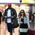 Lamar Odom et Khloé Kardashian à l'aéroport JFK de New York, le 19 juin 2012