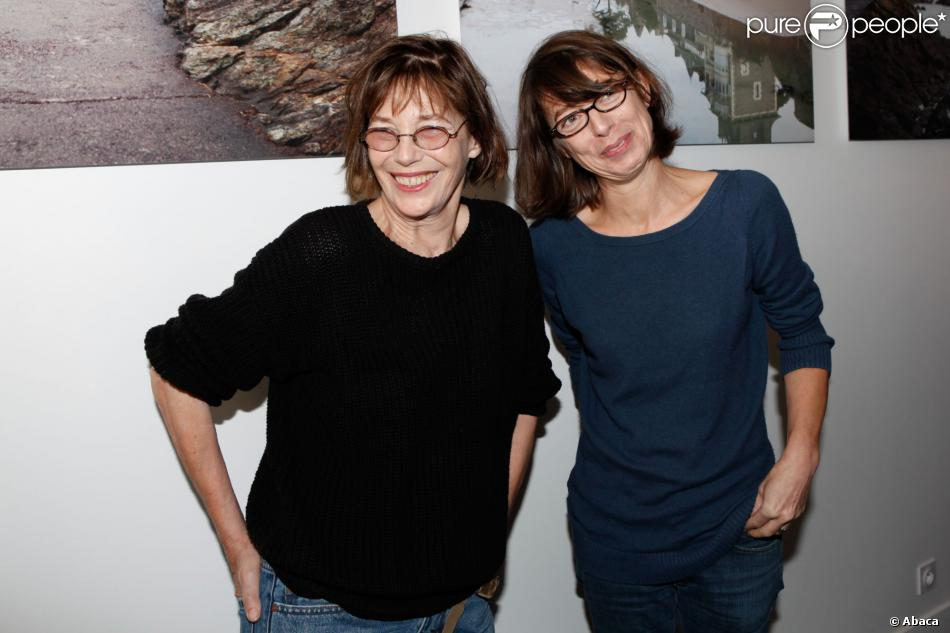 Jane Birkin et Kate Barry à Dinard, le 5 octobre 2012.