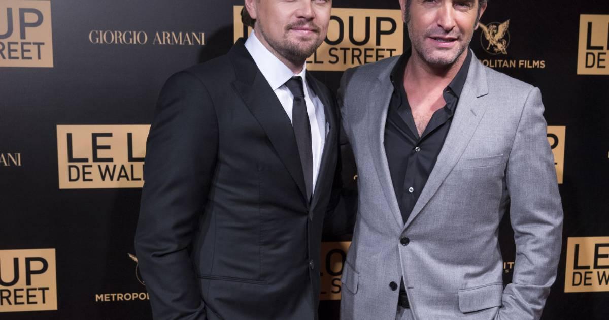 Leonardo dicaprio et jean dujardin avant premiere for Dujardin dicaprio