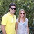 Raí et son épouse lors de la finale dames de Roland-Garros le 5 juin 2010