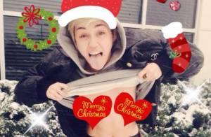 Miley Cyrus : Une mère Noël sexy et seins nus... Jusqu'où ira-t-elle ?