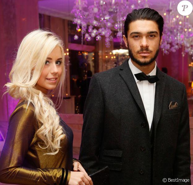 Exclusif - Coralie (La belle et ses princes presque charmants 3) et Julien Guirado (Secret Story 7), très élégants, lors de la soirée des Best Awards de Massimo aux Salons Hoche à Paris, le 16 decembre 2013