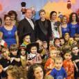 """""""La princesse Charlene et le prince Albert de Monaco remettaient le 17 décembre 2013, dans la matinée, des cadeaux de Noël aux enfants d'une crèche de Fontvieille."""""""