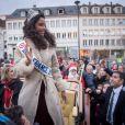 Miss France 2014, Flora Coquerel à Chartres, le 18 décembre 2013.