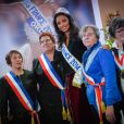 Miss France 2014 Flora Coquerel during a welcoming ceremony in her hometown Morancez, France, on December 18, 2013. Photo by Nicolas Gouhier/ABACAPRESS.COM19/12/2013 - Morancez